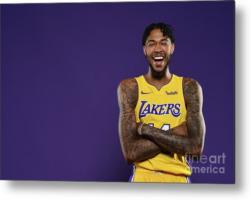 Media Day Metal Print featuring the photograph Brandon Ingram by Aaron Poole