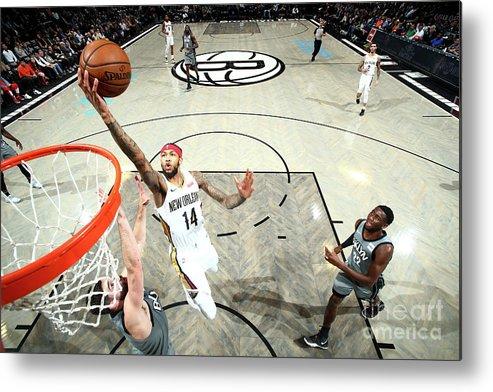 Nba Pro Basketball Metal Print featuring the photograph Brandon Ingram by Nathaniel S. Butler
