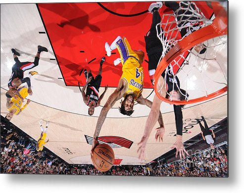 Nba Pro Basketball Metal Print featuring the photograph Brandon Ingram by Sam Forencich