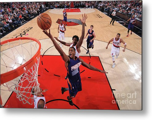 Nba Pro Basketball Metal Print featuring the photograph Brandon Knight by Sam Forencich