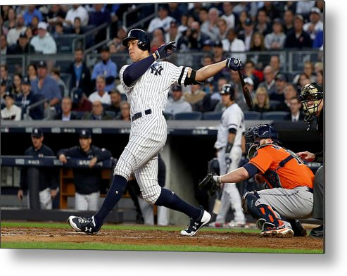Championship Metal Print featuring the photograph Brett Gardner and Aaron Judge by Al Bello