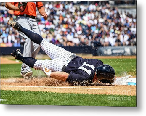 People Metal Print featuring the photograph Brett Gardner by Mark Brown