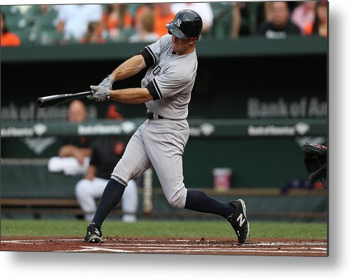 People Metal Print featuring the photograph Brett Gardner by Patrick Smith