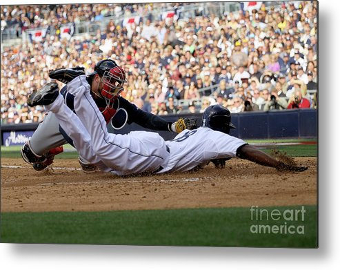 Brian Mccann Metal Print featuring the photograph Brian Mccann by Stephen Dunn