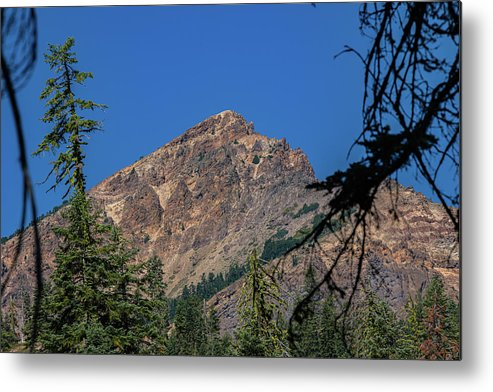 Mountain Metal Print featuring the photograph Brokeoff Peak View by John Heywood
