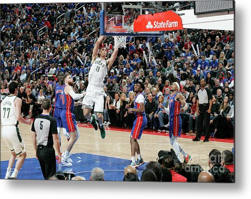 Playoffs Metal Print featuring the photograph Brook Lopez by Brian Sevald