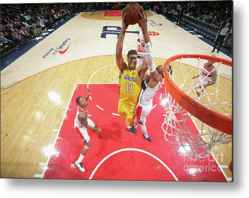 Nba Pro Basketball Metal Print featuring the photograph Brook Lopez by Ned Dishman