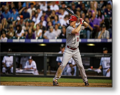 National League Baseball Metal Print featuring the photograph Bruce Fields by Dustin Bradford