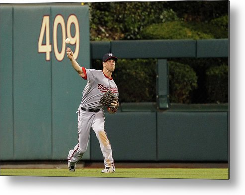 Ball Metal Print featuring the photograph Bryce Harper by Brian Garfinkel