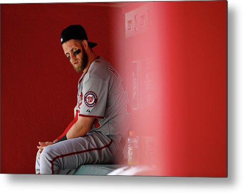 American League Baseball Metal Print featuring the photograph Bryce Harper by Christian Petersen