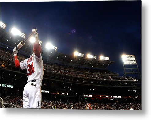 National League Baseball Metal Print featuring the photograph Bryce Harper by Patrick Mcdermott