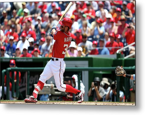Following Metal Print featuring the photograph Bryce Harper by Patrick Smith