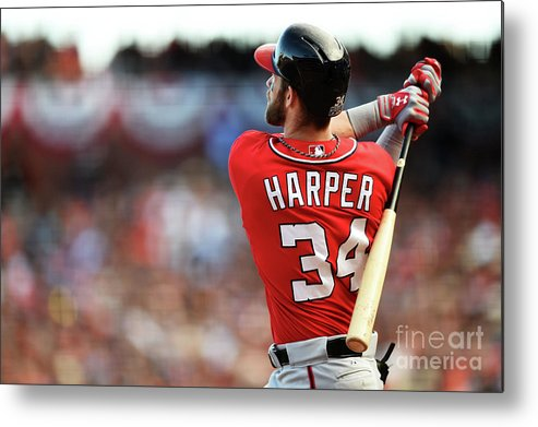 San Francisco Metal Print featuring the photograph Bryce Harper by Thearon W. Henderson