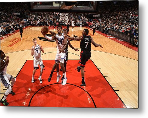 Nba Pro Basketball Metal Print featuring the photograph Buddy Hield by Ron Turenne