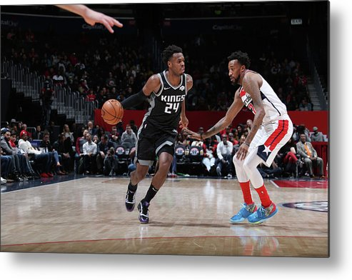 Nba Pro Basketball Metal Print featuring the photograph Buddy Hield by Stephen Gosling