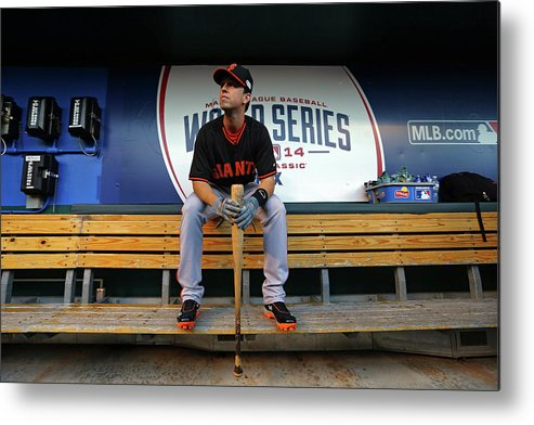 Game Two Metal Print featuring the photograph Buster Posey by Dilip Vishwanat