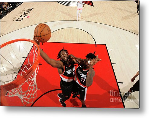 Nba Pro Basketball Metal Print featuring the photograph Caleb Swanigan by Cameron Browne