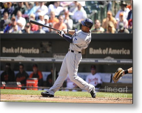 American League Baseball Metal Print featuring the photograph Carl Ray by Mitchell Layton