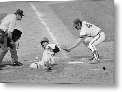 American League Baseball Metal Print featuring the photograph Carl Yastrzemski by Ronald C. Modra/sports Imagery