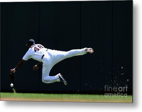 Second Inning Metal Print featuring the photograph Carlos Beltran and Torii Hunter by Hannah Foslien