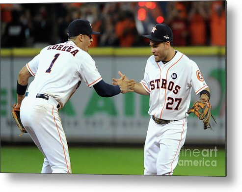 American League Baseball Metal Print featuring the photograph Carlos Correa by Eric Christian Smith