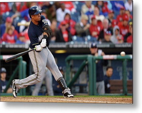 Opening Metal Print featuring the photograph Carlos Gomez by Drew Hallowell