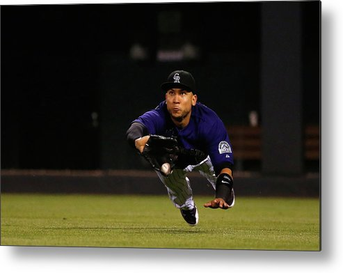 People Metal Print featuring the photograph Carlos Gonzalez and Pete Kozma by Doug Pensinger