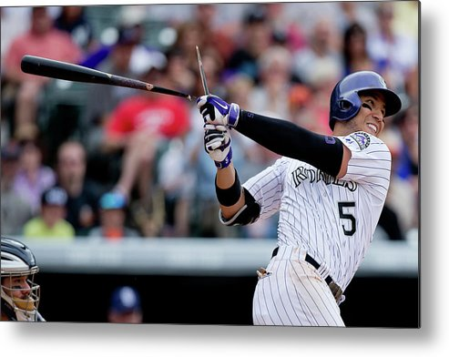 National League Baseball Metal Print featuring the photograph Carlos Gonzalez by Justin Edmonds