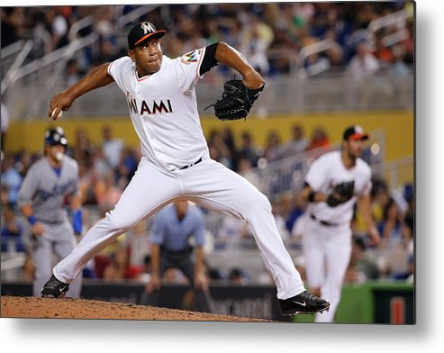 Baseball Pitcher Metal Print featuring the photograph Carlos Marmol by Rob Foldy