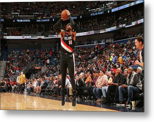 Smoothie King Center Metal Print featuring the photograph Carmelo Anthony by Layne Murdoch Jr.