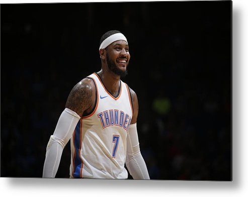 Nba Pro Basketball Metal Print featuring the photograph Carmelo Anthony by Shane Bevel