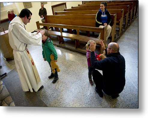 Pets Metal Print featuring the photograph Catholic Church Hosts Mass For House Pets by Target Presse Agentur Gmbh