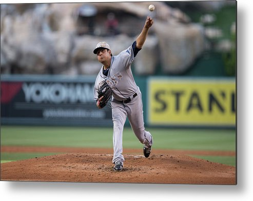 Second Inning Metal Print featuring the photograph Cesar Ramos by Paul Spinelli