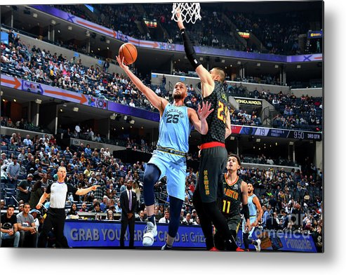 Nba Pro Basketball Metal Print featuring the photograph Chandler Parsons by Scott Cunningham