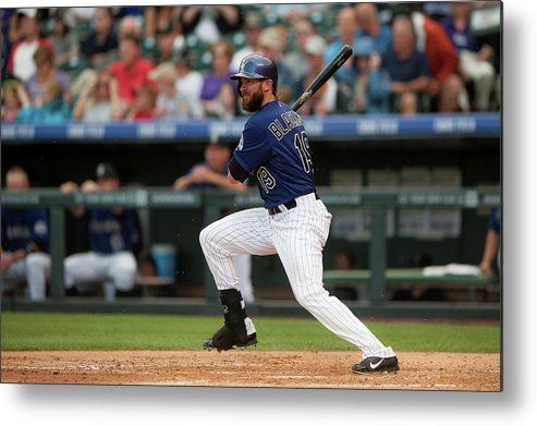 National League Baseball Metal Print featuring the photograph Charlie Blackmon by Dustin Bradford
