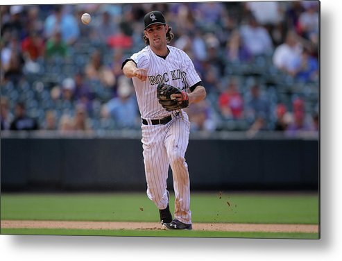 National League Baseball Metal Print featuring the photograph Charlie Culberson by Doug Pensinger