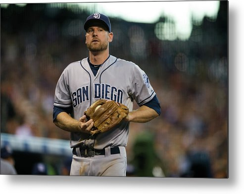 Foul Metal Print featuring the photograph Chase Headley by Dustin Bradford