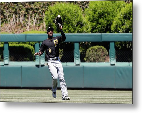 People Metal Print featuring the photograph Chase Utley and Starling Marte by Brian Garfinkel