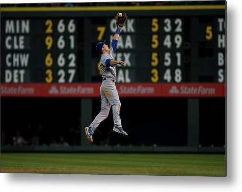 People Metal Print featuring the photograph Chase Utley by Dustin Bradford