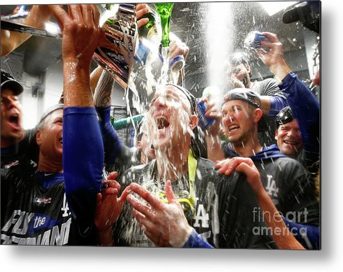 Championship Metal Print featuring the photograph Chase Utley by Jamie Squire