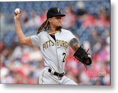 Three Quarter Length Metal Print featuring the photograph Chris Archer by Greg Fiume