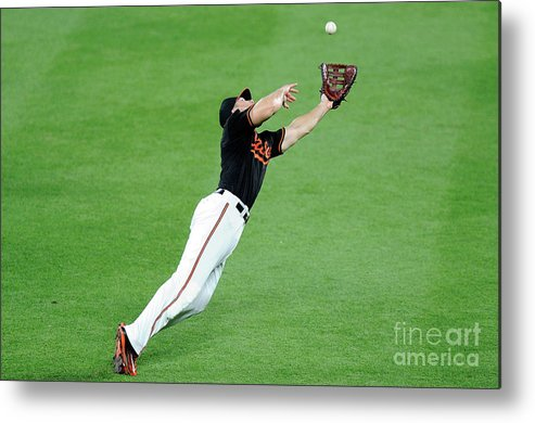 People Metal Print featuring the photograph Chris Davis and Carlos Beltran by Greg Fiume
