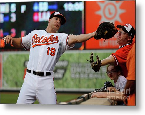 People Metal Print featuring the photograph Chris Davis and Chris Carter by Rob Carr