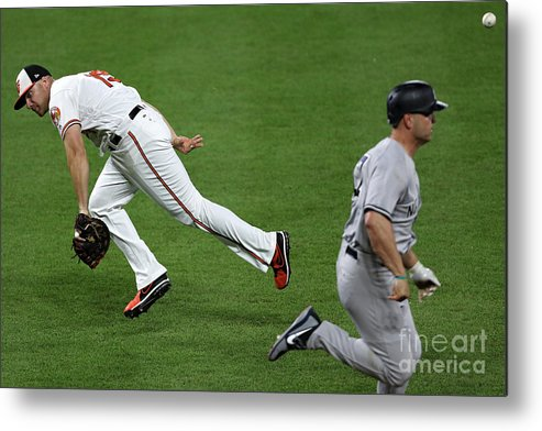People Metal Print featuring the photograph Chris Davis and Matt Holliday by Patrick Smith