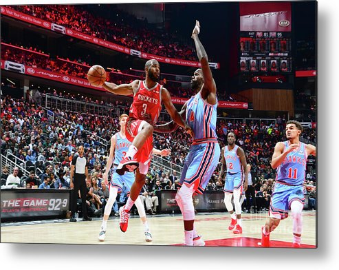 Atlanta Metal Print featuring the photograph Chris Paul by Scott Cunningham