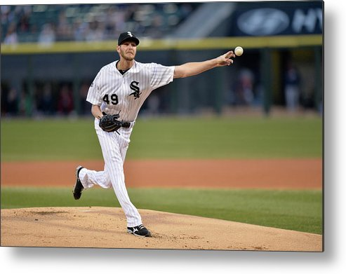 American League Baseball Metal Print featuring the photograph Chris Sale by Brian Kersey