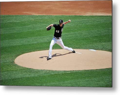 American League Baseball Metal Print featuring the photograph Chris Sale by David Banks
