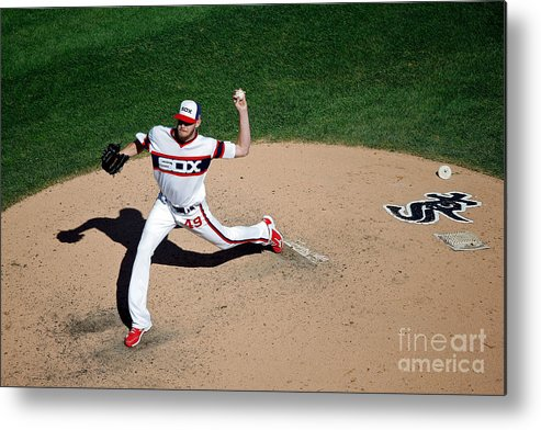 People Metal Print featuring the photograph Chris Sale by Jon Durr
