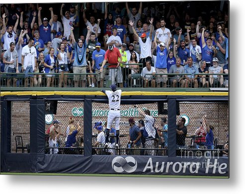 People Metal Print featuring the photograph Christian Yelich and Anthony Rizzo by Dylan Buell
