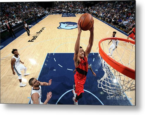Sports Ball Metal Print featuring the photograph C.j. Mccollum by Joe Murphy